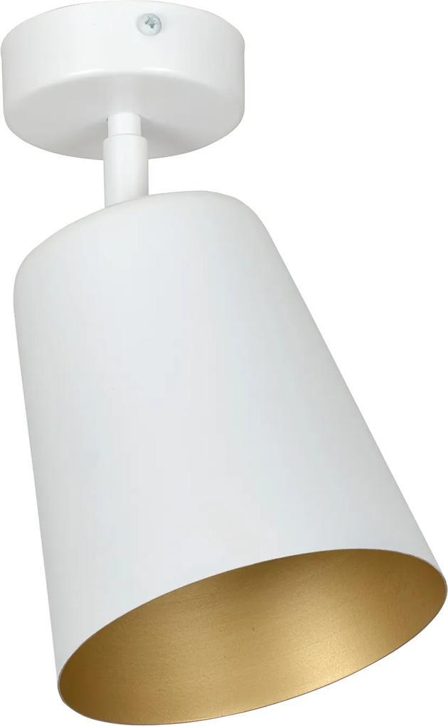 PRISM 1   moderná stropná lampa Farba: Biela/Zlatá