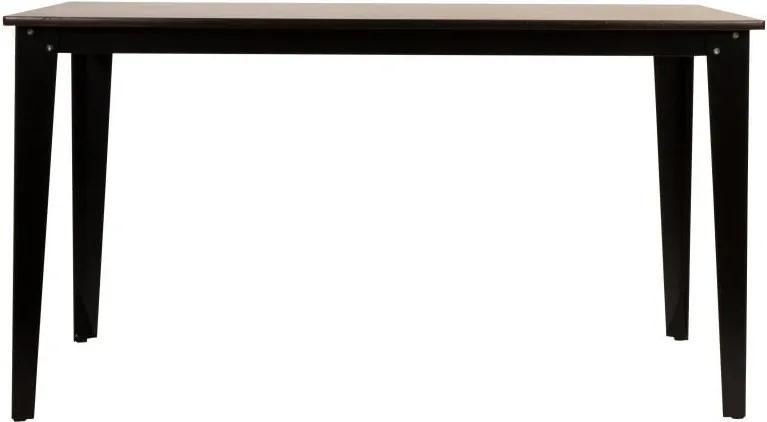 Drevený jedálenský stôl s čiernymi nohami Dutchbone Scuola, 140 x 71 cm