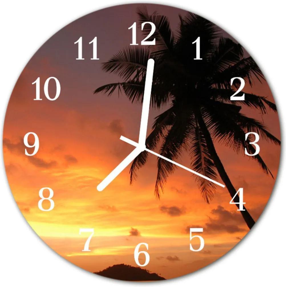 Nástenné skleněné hodiny dlaň