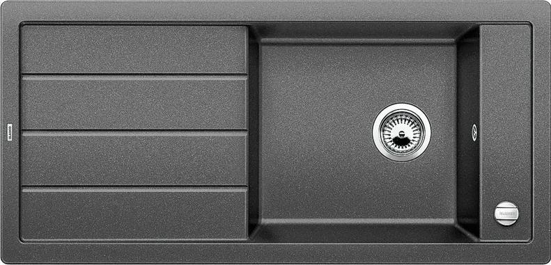 Granitový kuchynský drez - Blanco MEVIT XL 6 S antracit s excentrom