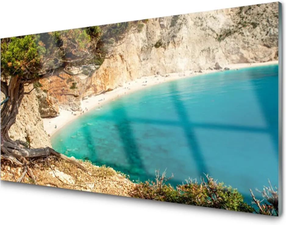 Obraz plexi Záliv More Skaly Pláž