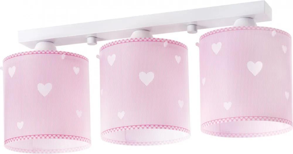 Dalber SWEET DREAMS 62013S Detské Svietidlá ružové 3xE27 max. 60W 50x14x21 cm