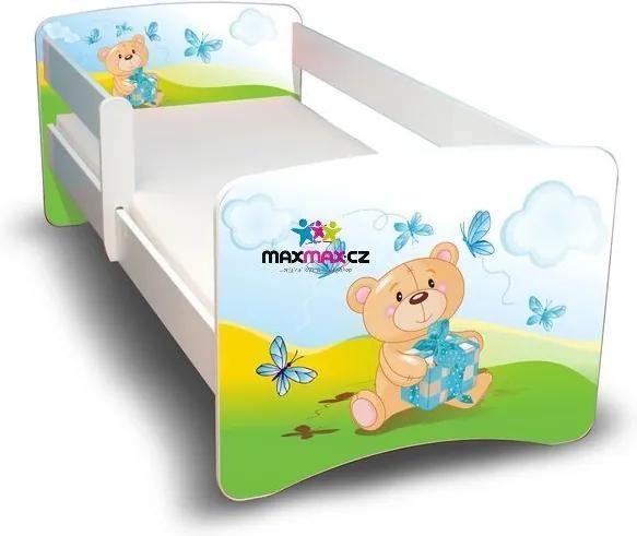 MAXMAX Detská posteľ 180x80 cm bez šuplíku - MACKO S darčeky II 180x80 pre všetkých NIE
