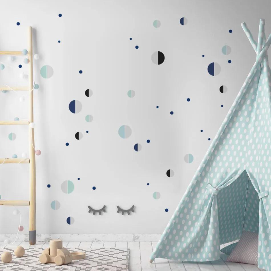 Dekornik Dekorácia na stenu DEKORNIK - Polmesiac modrá