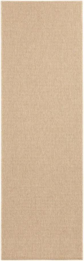 Béžový behúň BT Carpet Nature, 80 x 250 cm
