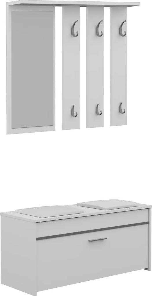 Shoptop Předsíňová stěna ROMA bílá