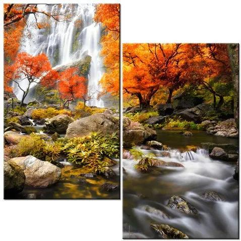 Tlačený obraz Jesenný vodopád 60x60cm 2335A_2A