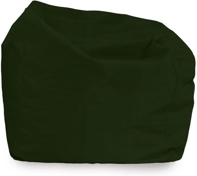 Sedací vak AMALFY nylon - tmavo zelený