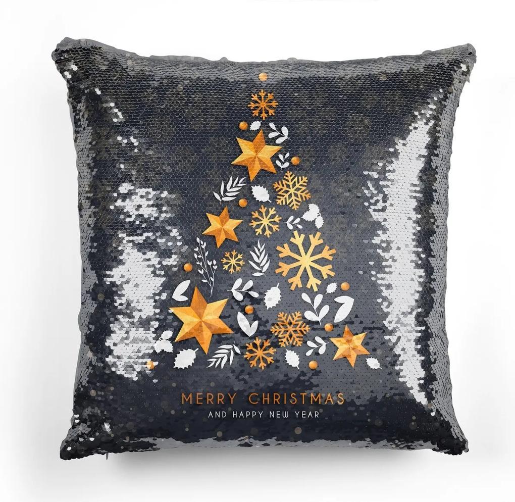 Domarex Vankúšik s flitrami Vianočné ozdoby, 40 x 40 cm
