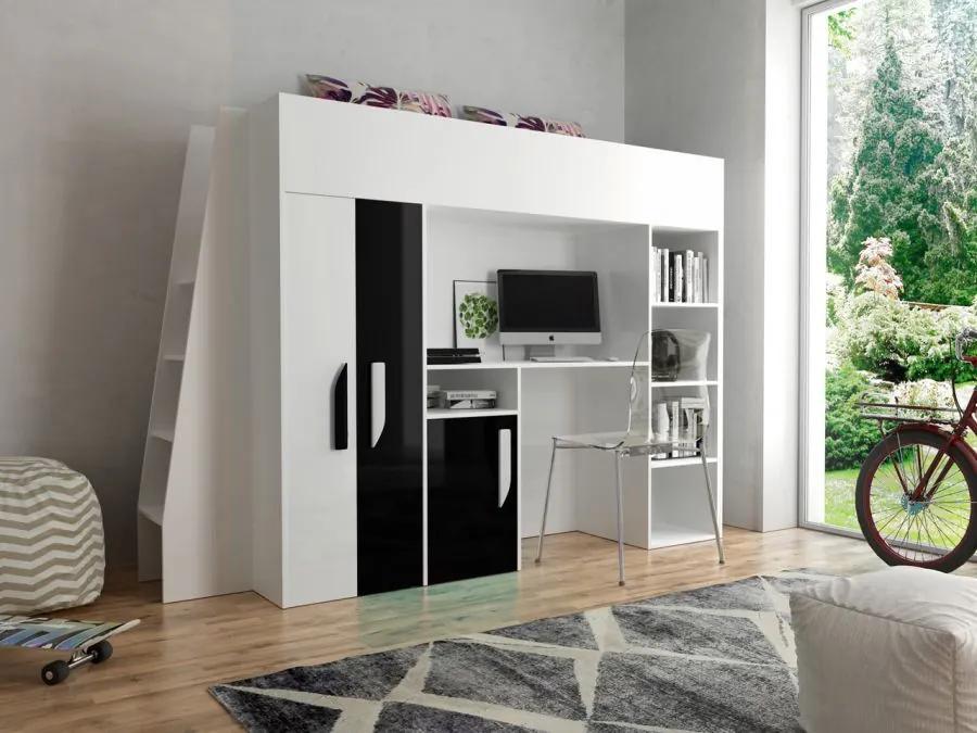 SB Multifunkčná poschodová posteľ Party 15 - viac farieb Farba: Čierna