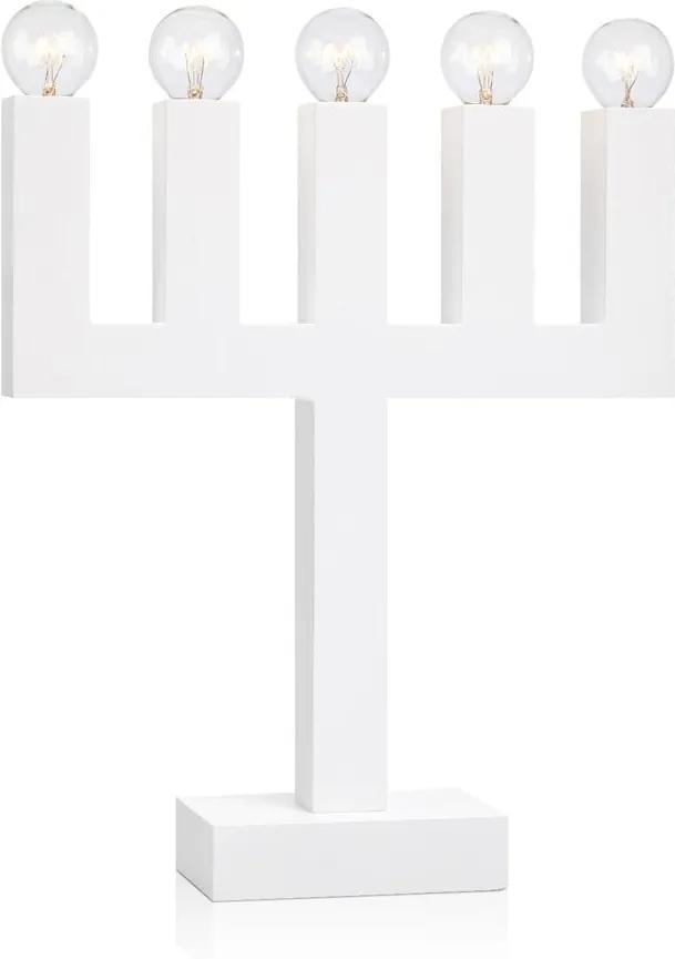 Biely svietnik Markslöjd Agne, výška 40 cm