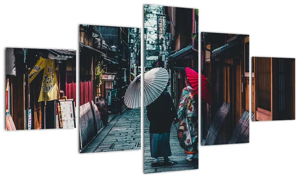 Obraz - Procházka Tokiom (125x70 cm), 40 ďalších rozmerov