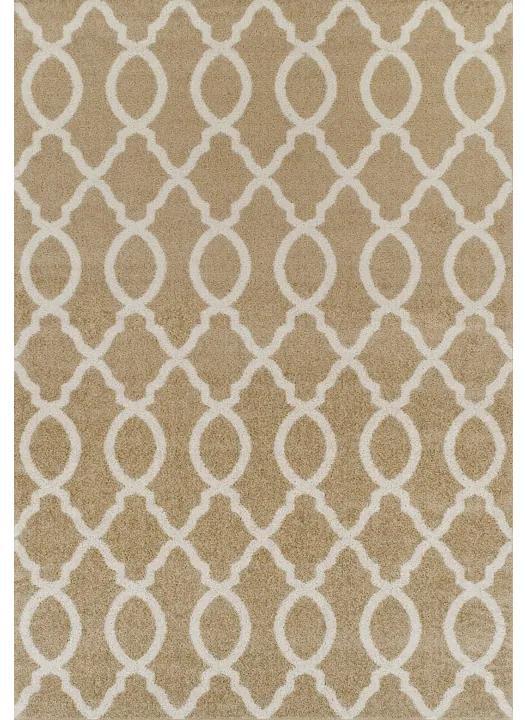 TEMPO KONDELA Nala koberec 160x235 cm béžová / slonovinová