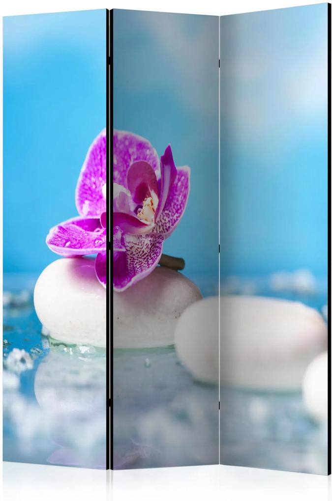 Paraván - Pink Orchid and white Zen Stones [Room Dividers] 135x172