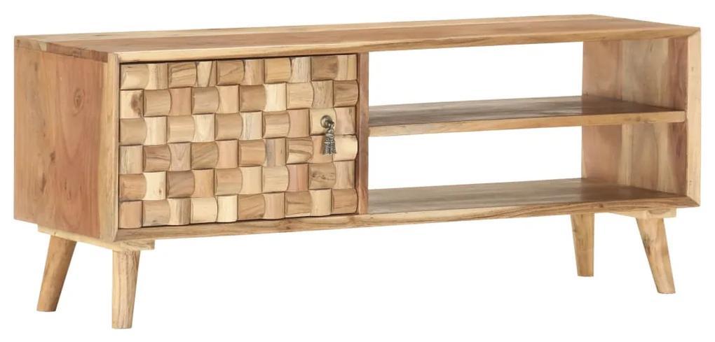 vidaXL TV skrinka 100x35x40 cm masívne akáciové drevo