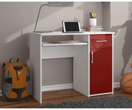 Počítačový stôl PIN lesklý červený