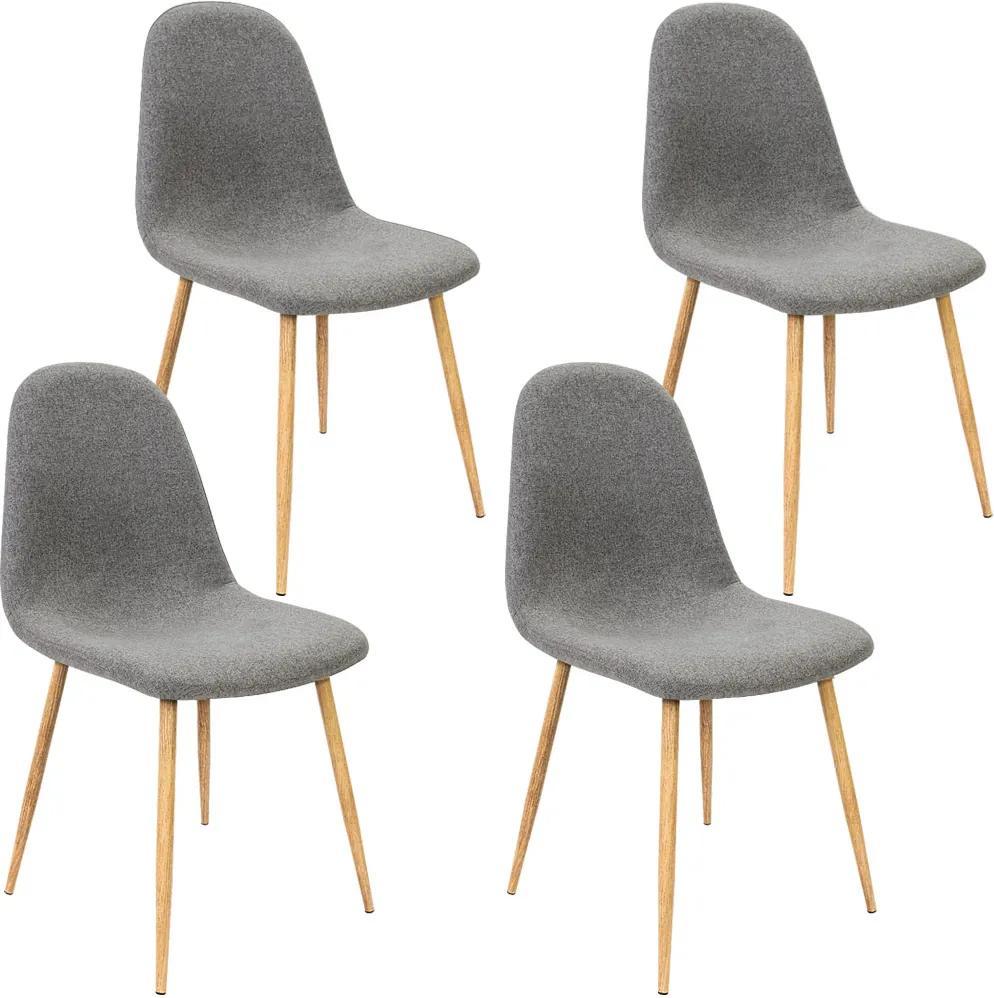 Jurhan & Co.KG Germany Dizajnové stoličky JR38 4 ks tmavošedá