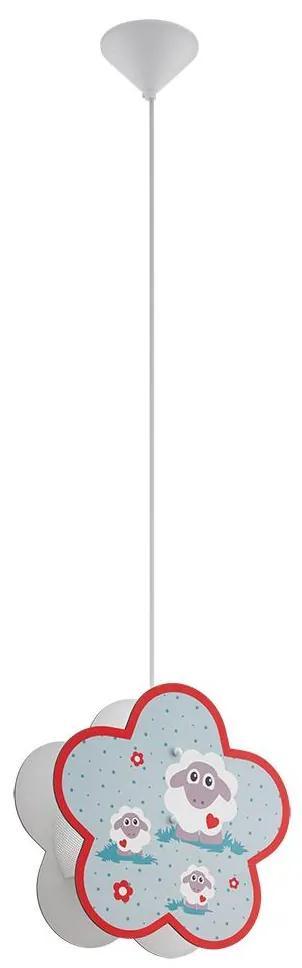 Eglo Eglo 97706 - Detský luster na lanku LALELU 1xE27/60W/230V EG97706