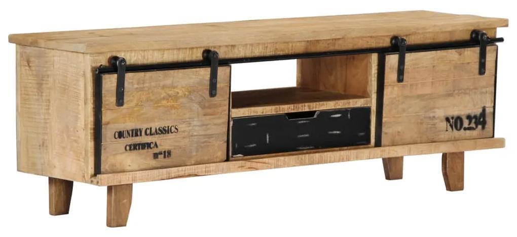 vidaXL TV skrinka z mangového dreva 120x30x40 cm