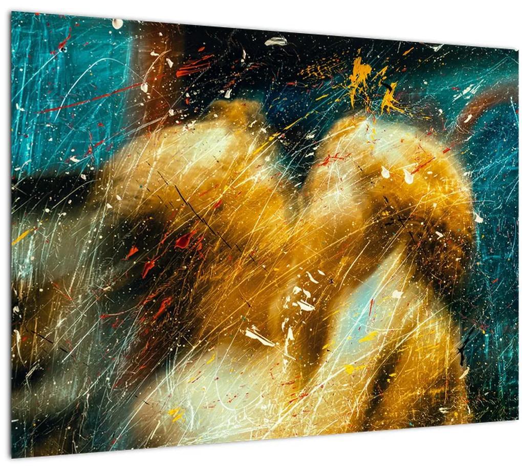 Obraz - Bozkávajúci sa anjeli (70x50 cm), 40 ďalších rozmerov