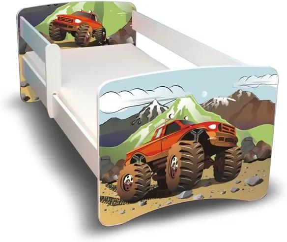 MAXMAX Detská posteľ 160x90 cm - AUTO II. 160x90 pre chlapca NIE