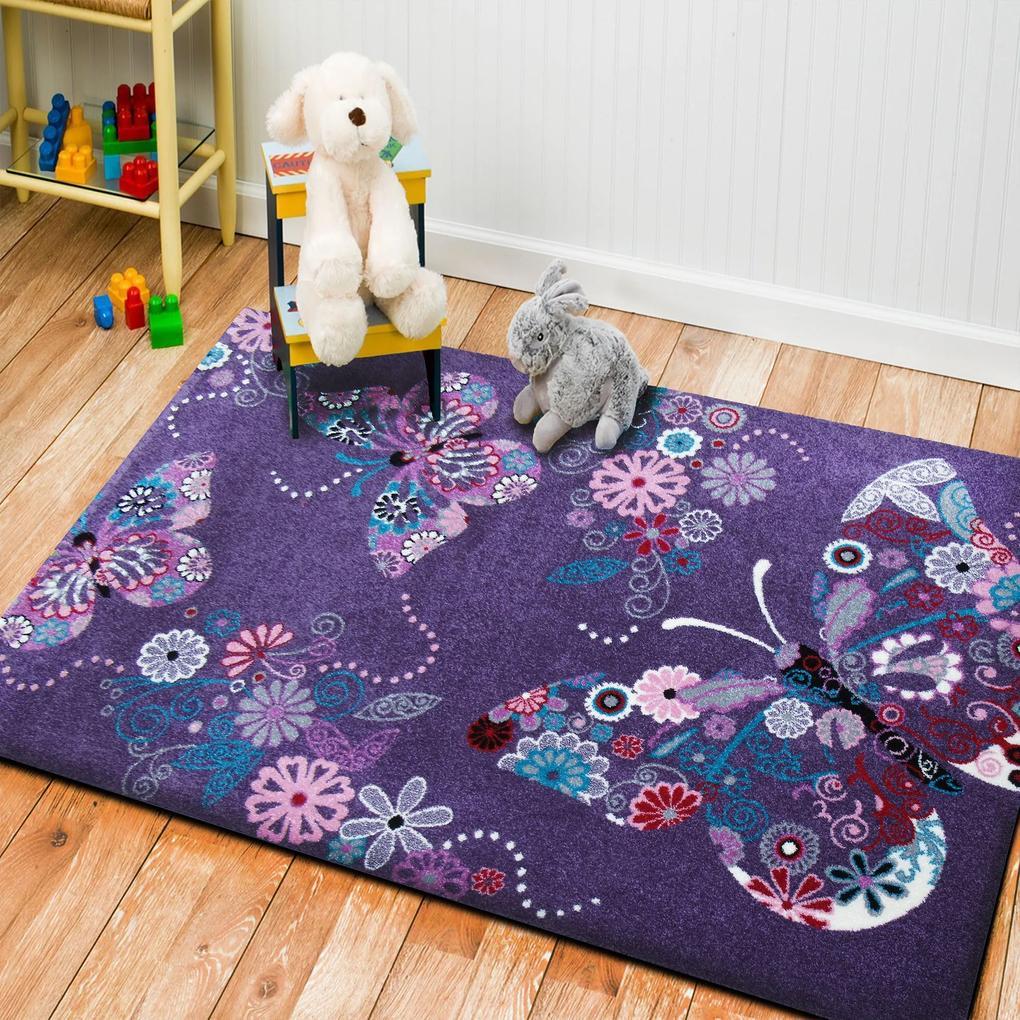 Koberec Bella 03 fialový - 100x200 cm