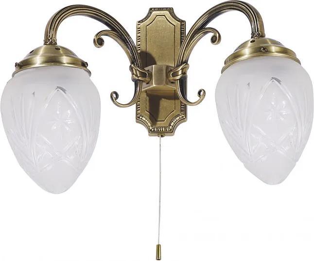 Rábalux 8632 Nástenné Lampy bronz E14 2x MAX 40W 270 mm