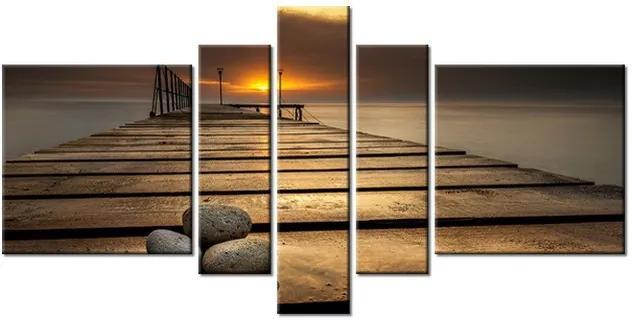 Tlačený obraz Nádherné ráno pri móle 160x80cm 2414A_5J