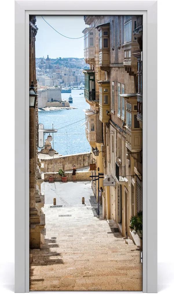 Fototapeta samolepící dveře Malta uličky