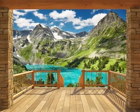 3D tapeta Alpy Walltastic