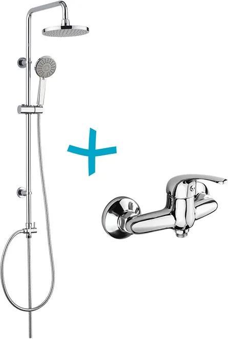 Mereo Lila CBEE609 sprchová súprava s batériou, ručnou a hlavovou sprchou