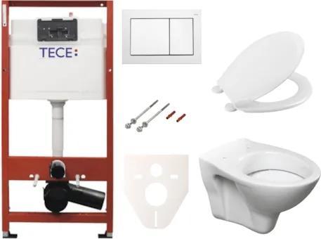 Závesný set WC S-line + modul TECE s tlačidlom TECEbase (biela) SIKOTSR0