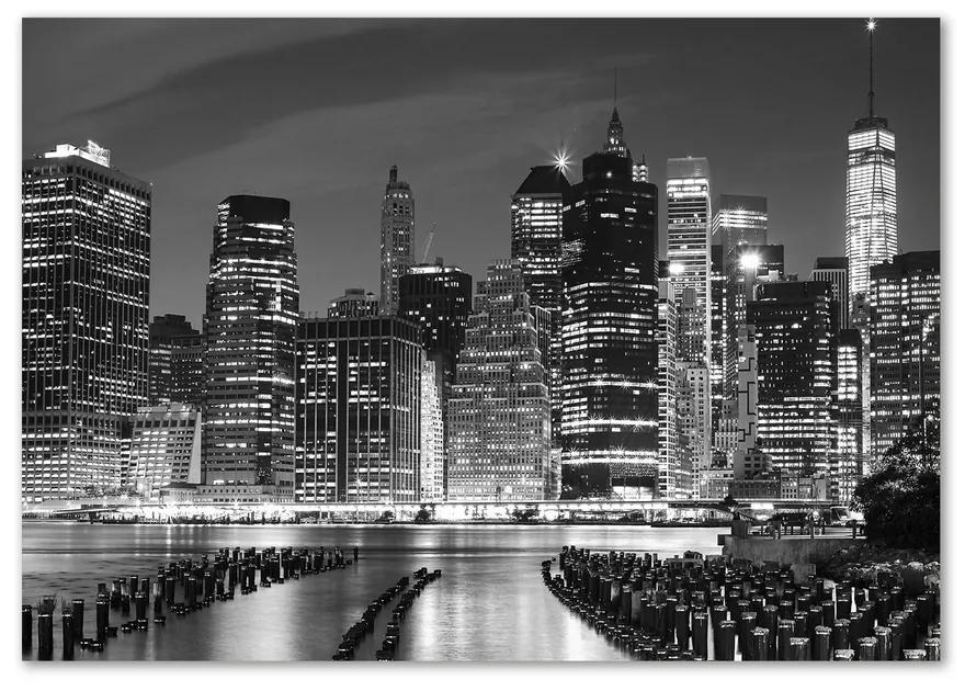 Moderný sklenený obraz z fotografie Manhattan noc pl-osh-100x70-f-94703555