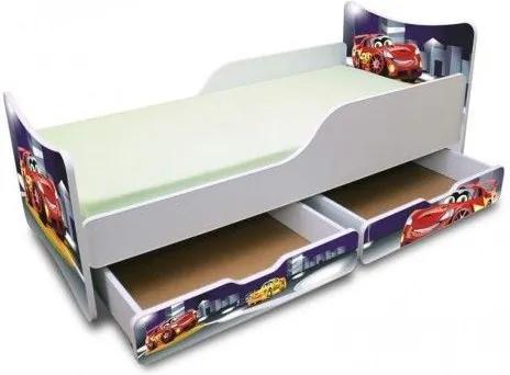 MAXMAX Detská posteľ 160x90 cm so zásuvkou - NOČNÝ AUTÍČKO 160x90 pre chlapca ÁNO