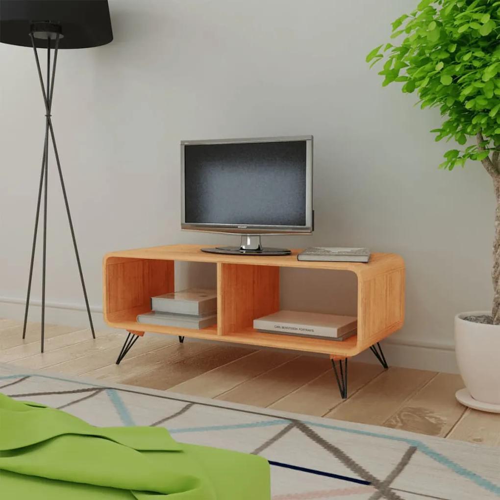 vidaXL Televízny stojan, 90x39x38.5 cm, drevený, hnedý