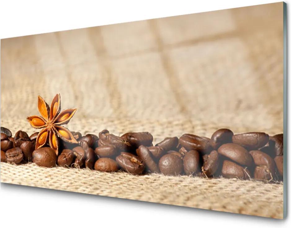 Skleněný obraz Káva Zrnká Kuchyňa