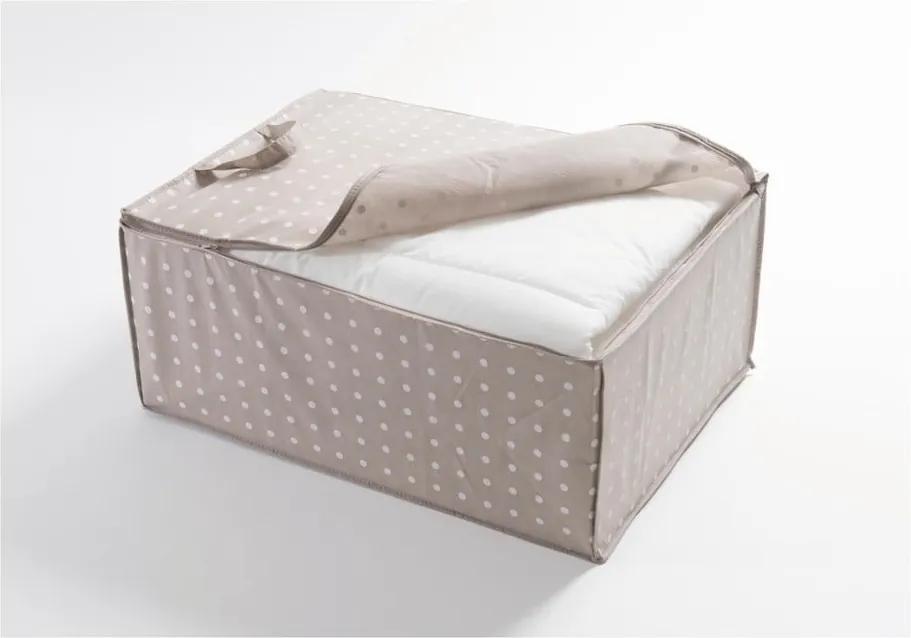 Béžový úložný obal Compactor Dots, 50 x 70 cm