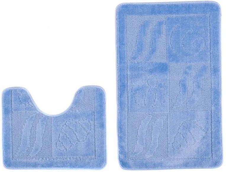 Kúpeľňové predložky 1107 modré 2 ks, Velikosti 50x80cm