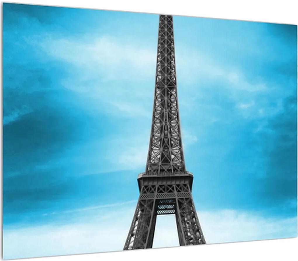 Obraz Eiffelovej veže a modrého auta (K011808K7050)