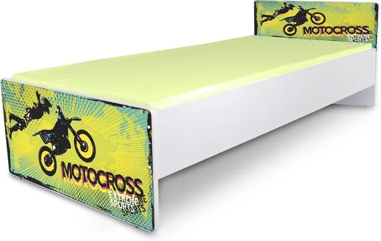 MAXMAX Posteľ pre deti JUNIOR - motocros 2