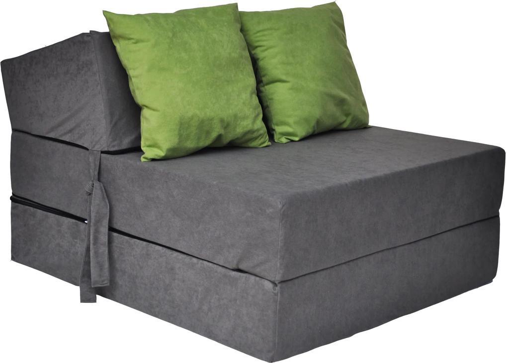 MAXMAX Rozkladacie molitanové kreslo (matrac) - šedé