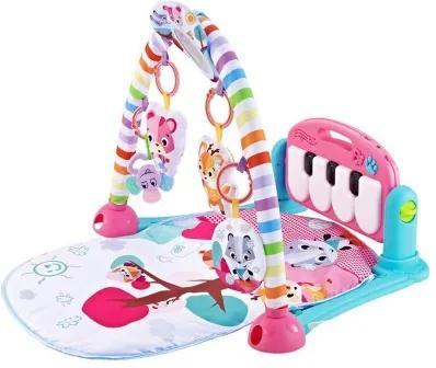3225 Detská interaktívna podložka s klavírom Ružová