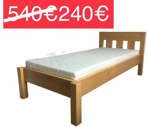 AKCIA Masívna buková posteľ 90x200 s roštom