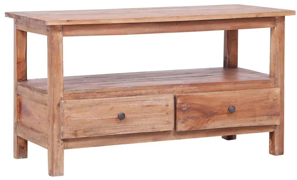 vidaXL TV skrinka 90x40x50 cm masívne recyklované drevo