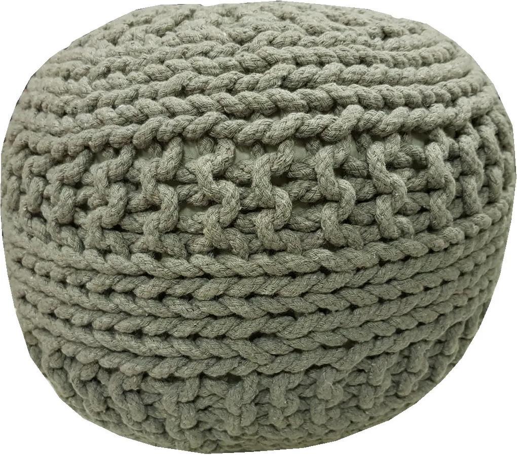 KUDOS Textiles Pvt. Ltd. MEGA AKCE: Sedací vak TEA POUF 35 šedý - 40x40x35 cm