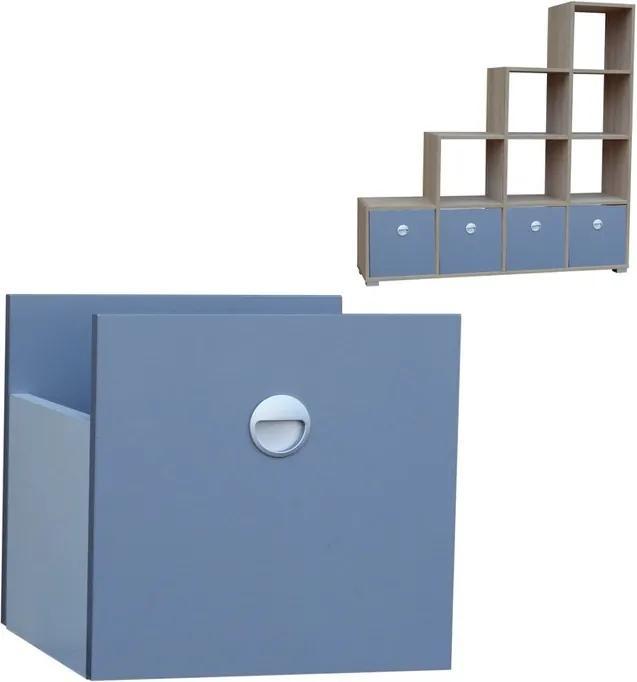 Úložný box - zásuvka do policového systému - výber dekorov - Šedá platinová