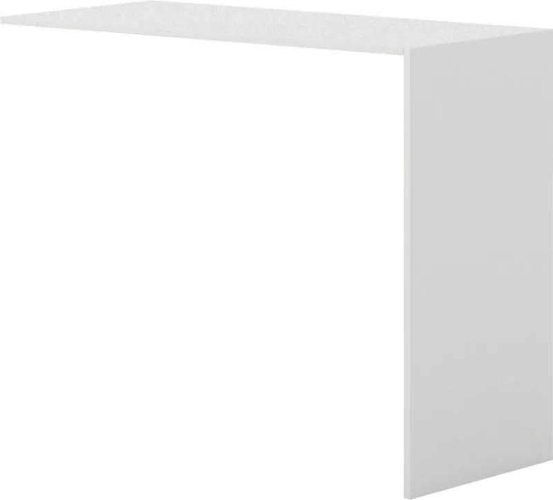 Barový stôl k prístavnej skrini, biela biela 530 1200 990 LAYERS