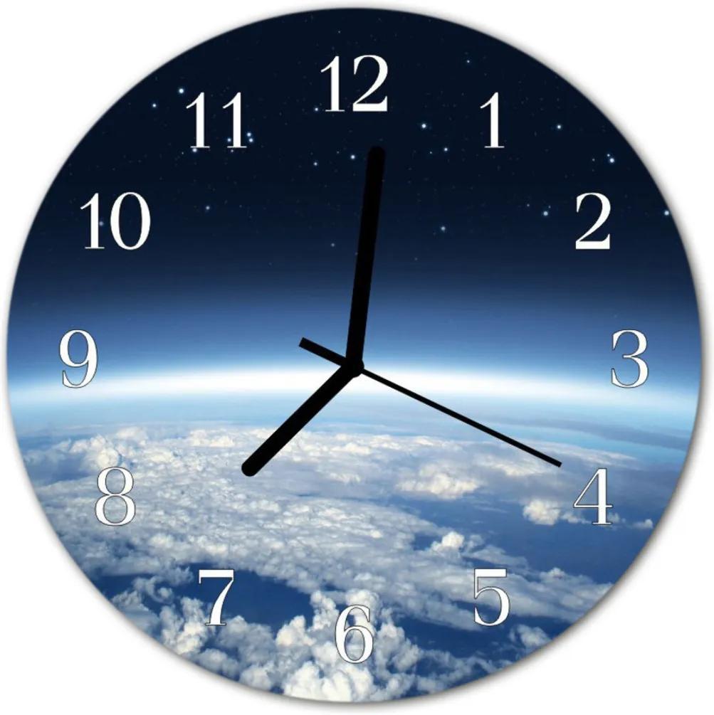 Skleněné hodiny kulaté Vesmír