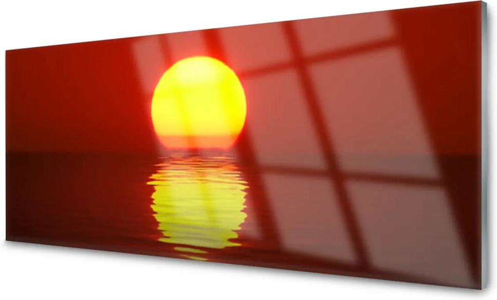 Akrylové obraz Západ slunce krajina