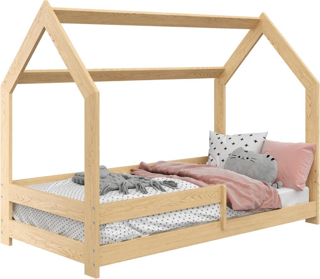 AMI nábytok Detská posteľ DOMČEK D5 80x160cm masív borovica